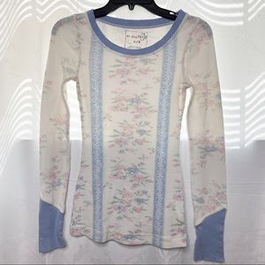 RARE Free People We the free floral thermal top